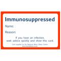 Immunosuppressed cards